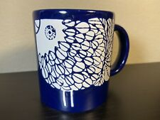 Vintage Waechtersbach Mug Bird Fish Chicken West Germany Blue Ceramic Rare