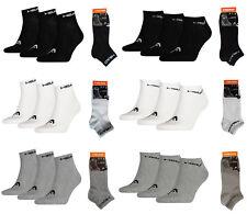 HEAD Quarter oder Sneaker Socken Füßlinge - Baumwoll Kurzsocken glattgestrickt