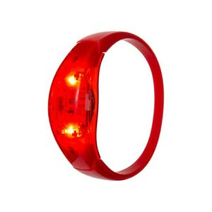6 Red Sound Activated LED Bracelets Light Up Flashing Voice Control Bangle