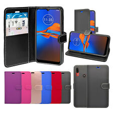 Case For Motorola E6 Plus Wallet Flip PU Leather Stand Card Slot Pouch Cover