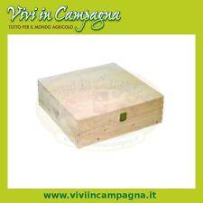 Valigetta portabottiglie 2 posti in legno