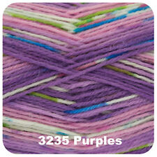 King Cole Zig Zag 4 Ply Knitting Yarn Suitable for Socks Shade 3235 Purples