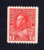 Canada Sc #132 (1915-24) 2c Carmine Admiral Coil VF NH