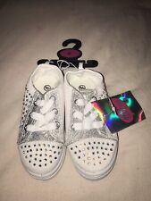 Girls White & Silver Sparkly Shoes - Size 6