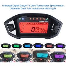Motorcycle Digital Gauge Tacho Speedo Odometer Gear Fuel Indicator 12V G8C8