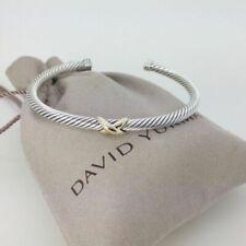 David Yurman Sterling Silver & 18k Gold Bangle Bracelet - Silver-gold