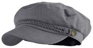 Mens Women Mariner Sailor Cotton Greek Fisherman Hat Newsboy Fiddler Cap Ecd2790