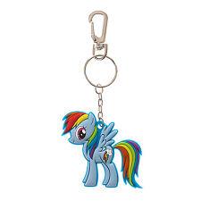 My Little Pony Rainbow Dash Keychain Rubber Blue Key Chain Hasbro Licensed