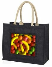 Fruit Sweets Large Black Shopping Bag Christmas Present Idea      , F-F1BLB
