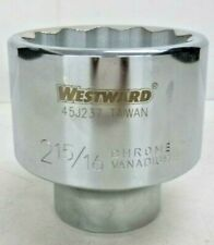 """NEW!! WESTWARD 2-15/16"""" Alloy Steel Socket with 1"""" Drive Size and Chrome Finish"""