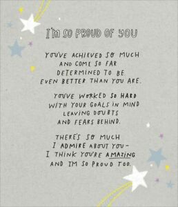 Friendship Encouragement Card Im So Proud Of You