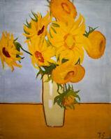 Jona Smol   Russischer Impressionismus - Kunst Ölgemälde Bild Gemälde   Blumen