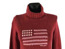 WOOLRICH Women's 80% Wool Turtleneck Jumper Size S