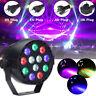 30W DMX-512 12 RGB LED Stage Strobe Light Lighting Laser Projector Party Club