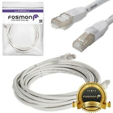 Fosmon 100FT Category 7 Cat7 RJ45 LAN Network Ethernet Patch Cable Cord White