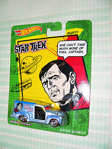 2013 Hot Wheels Star Trek Spock /'59 Chevy Delivery Real Riders!