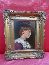 schönes, sehr altes Gemälde__Frau in Tracht__Bäuerin__signiert: Heichele_ !