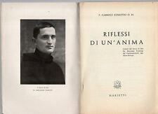 riflessi di un anima  lettere del servo di dio fr.ricc. pampuri fatebenefratelli