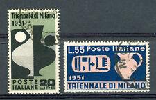 1951 TRIENNALE MILANO USATA SERIE COMPLETA 2 VAL.