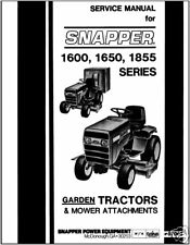 Snapper Tractor 1600,1650,1855 series Service Manual
