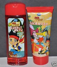 2PC JAKE AND THE NEVER LAND PIRATES SHAMPOO AND BUBBLE BATH DISNEY KIDS BATH SET