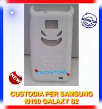 Custodia+Pellicola DEVIL BIANCA per Samsung I9100 galaxy s2 plus I9105