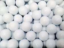 100 WHITE GOLF BALLS NEW PLAIN, BRAND NEW, UNBRANDED 3 PIECE QUALITY