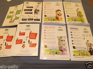 CRAVENDALE MILK COLLECTABLE STICKERS MUPPETS MILK CARTONS