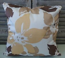 Splash of Colour caramel, mocha and latte flowers cushion cover 45 x 45