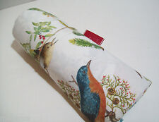 "Pottery Barn Holiday All Over Print Winter Fauna Birds Table cloth 70"" X 108"""