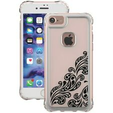 iPhone 8 and iPhone 7 Case, Jewel Essence, Thin (Clear, Whispers Black)