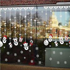 W309 Snowman Ornament Christmas Window Decal Sticker Decor Cling Wall Decoration