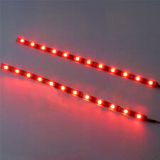 2PC 12 LEDs 30cm 5050 SMD LED Strip Light Flexible 12V Car Decor Waterproof NEW