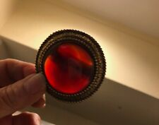 VERY LARGE CARNELIAN NATURAL STONE BOLO TIE SLIDE - VINTAGE