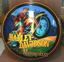 *RARE* Harley Davidson Motorcycle Light Up Dome Sign