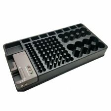 Battery Organiser Storage Box With Removable Battery Tester  Batteries AA AAA 9V