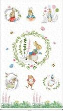 """PETER RABBIT AND FRIENDS 100% COTTON -  COT PANEL /WALL HANGING  25"""" X 44"""""""