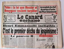 Le Canard Enchaîné 17/12/1997; Dessin de Cabu/ Service d'ordre du FN en Tchéchén