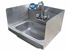 Hand Sink Stainless Steel with Splash Guards 12 X 12 - NSF