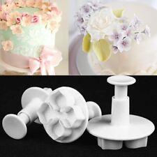 3pcs Hydrangea Fondant Cake Decorating SugarCraft Plunger Cutter Flower Mold Hot
