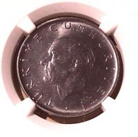 Turkey One Lira 1965 NGC MS 65
