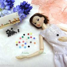 Bjd Doll Clothes Shirt Dress Sewing Tiny Round Button 4mm Black (Set of 20pcs)