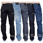 New Mens Designer Crosshatch Coated Denim Regular Fit Straight Leg Jeans Trouser