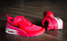 NIKE Air Max Thea Premium 616723-600 Women Size 8 Red/Mtllc Silver/White