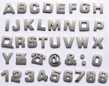 Chrom Aufkleber Auto 3D Buchstaben A -Z & 0 - 9 Auswahl Sticker selbstklebend