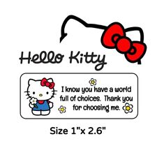 "50 Hello Kitty - ""World Of Choices"" Thank You Stickers"