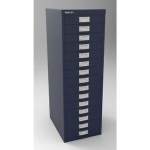 15 Drawer Maxi Tall Filing Cabinet Prussian - QUALITY DURABLE STEEL METAL
