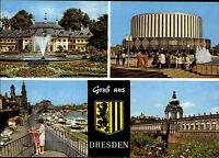 Dresden Sachsen DDR Mehrbild-AK ua. Filmtheater Kino, Zwinger, Schloß Pillnitz