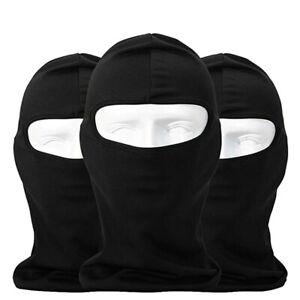 Outdoor Ski Motorcycle Cycling Balaclava Full Face Mask Neck Ultra Thin 3 Pack