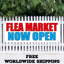 Flea Market Now Open Advertising Vinyl Banner Flag Sign Produce Clothes Discount